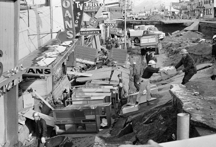 alaska deprem 1964 earthquake tsunami