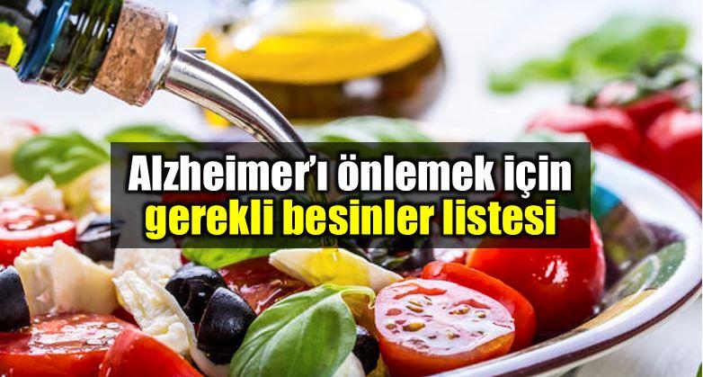 Alzheimer korunmak için besinler listesi ve öneriler