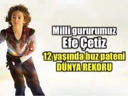 Efe Çetiz: 12 yaşında buz pateni dünya rekoru