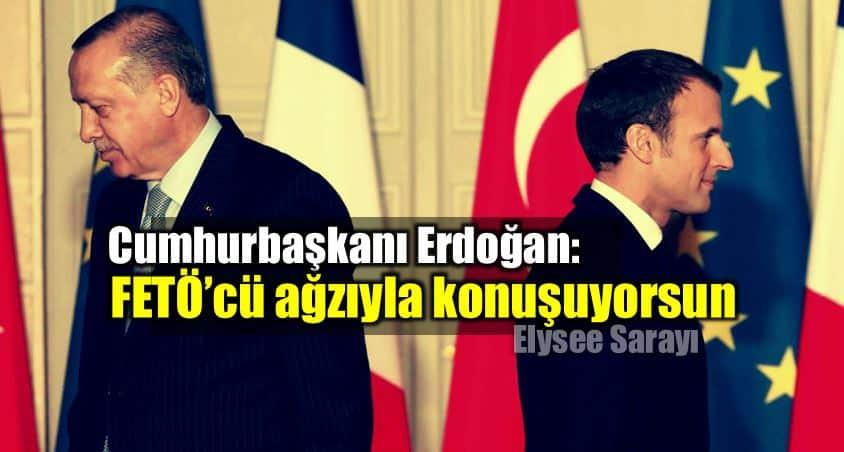 Erdoğan ile Macron görüşmesi