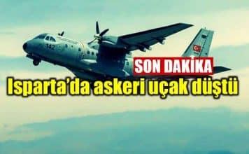 Isparta CASA tipi askeri eğitim uçağı düştü uçak kazası