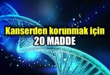 Kanserden korunmak kanseri önlemek için 20 madde