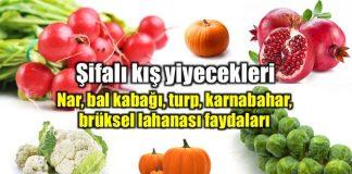 Karnabahar, turp, nar, bal kabağı, brüksel lahanası faydaları