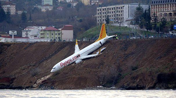 pegasus havayolları trabzon pissten çıkan uçak kazası