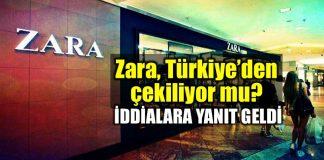 ZARA mağazaları Türkiye'den çekiliyor mu? Yanıt geldi!