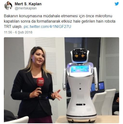 robot sanbot ahmet arslan