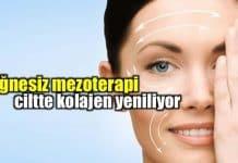 İğnesiz mezoterapi ile ciltte kolajen yenileme