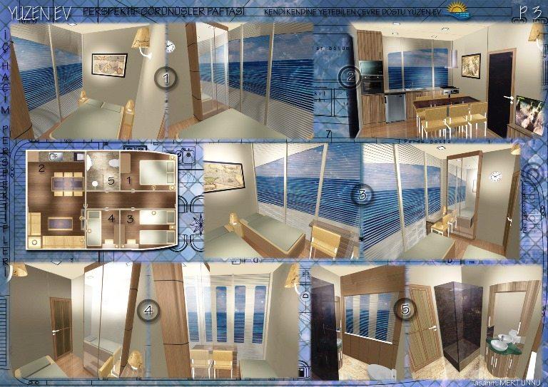 mert ünnü yüzen ev projesi maltepe üniversitesi gemi tasarım