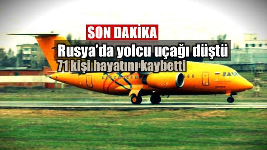 Rusya moskova Saratov Havayolları yolcu uçağı düştü