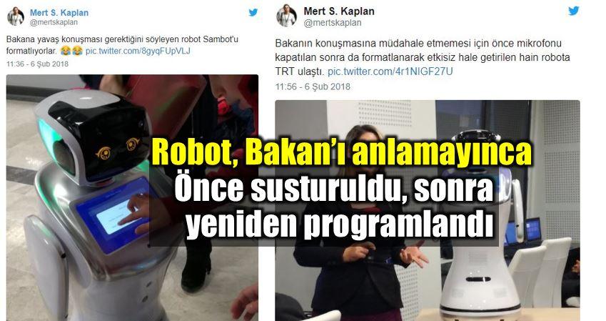 Robot Sanbot ulaştırma Bakanı Ahmet Arslan Neden bahsediyorsun?