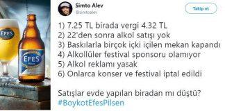 Tuncay Özilhan: Evde bira yapmak vergi kaybına neden oluyor! boykotefespilsen efes pilsen boykotu