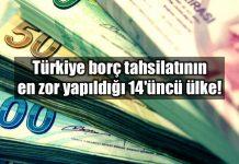Türkiye borç tahsilatının en zor yapıldığı 14 üncü ülke euler hermes raporu