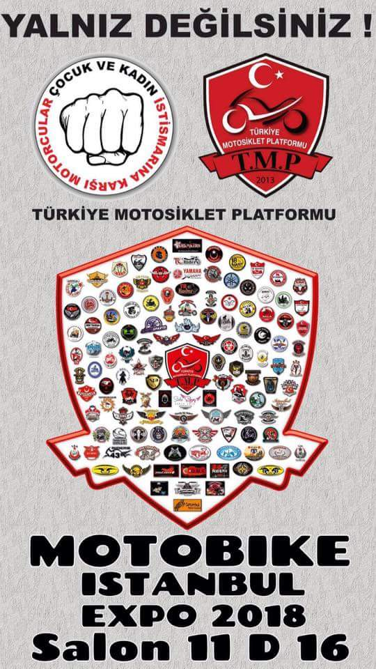 Türkiye Motorsiklet Platformu (TMP) çocuk ve kadın istismarına karşı bildiri