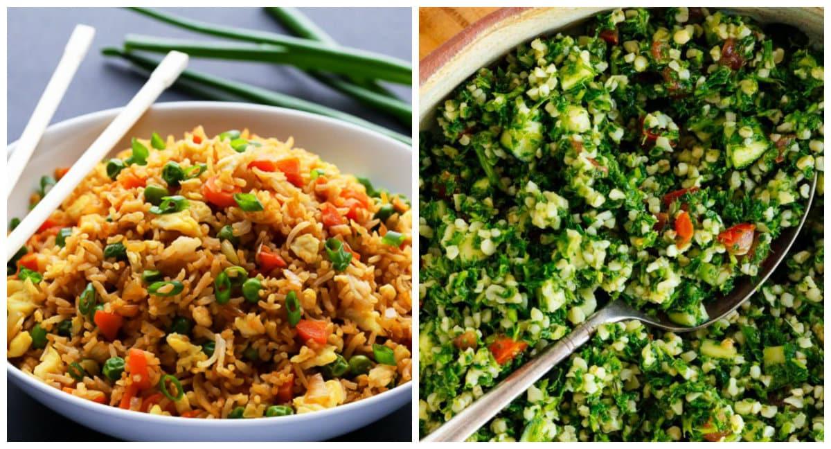 Farklı lezzetler arayanlar için Çin pilavı ve Arap salatası (Tabule) tarifi