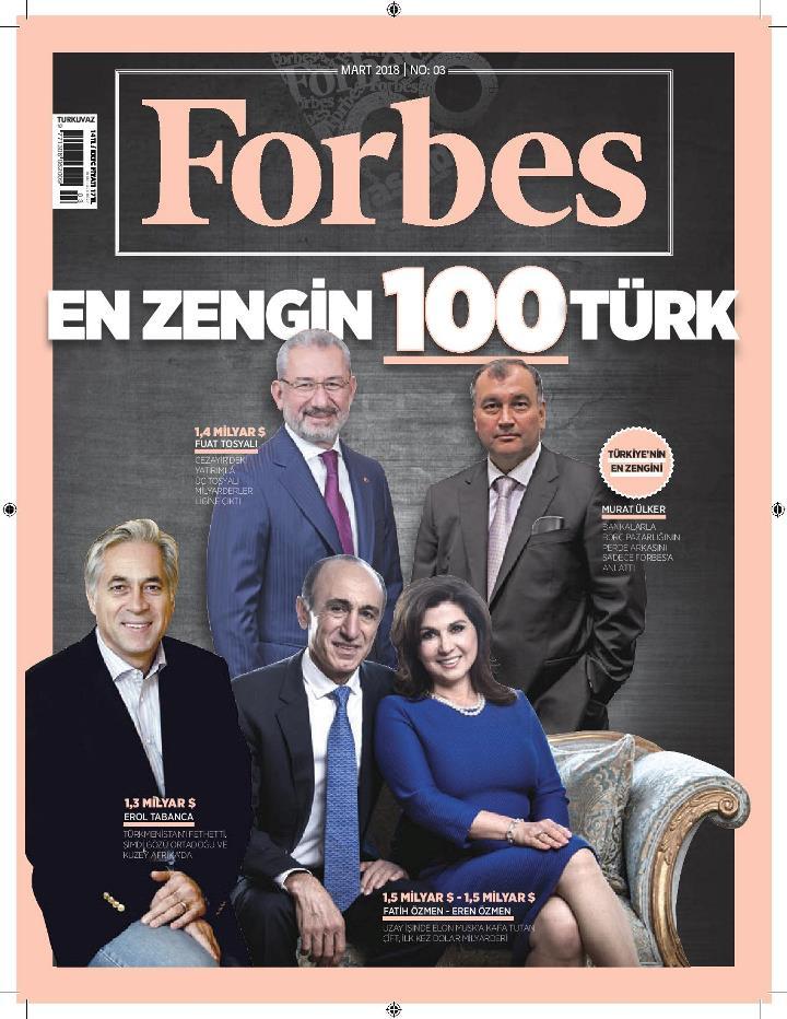 forbes 100 türkiye en zengin türkler listesi