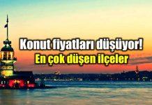 İstanbul konut fiyatları en çok düşen ilçeler satılık ev konut yatırımı