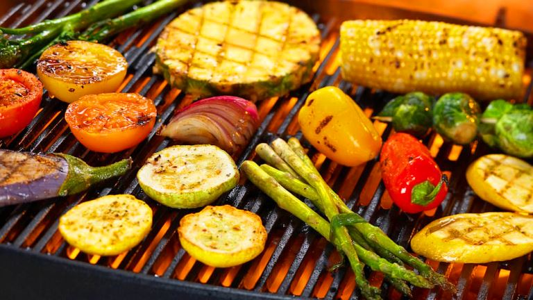 mangal piknik barbekü sebze et tavuk