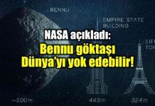 nasa bennu göktaşı dünya 2135 nükleer