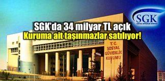 SGK 34 milyar lira açık Taşınmazları satılıyor!