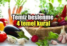 Temiz beslenme konusunda 4 temel kural