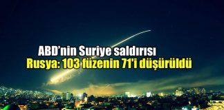 ABD ingiltere fransa Suriye füze saldırısı rusya 103 füzenin 71'i düşürüldü