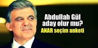 Abdullah Gül aday gösterilir mi? ANAR seçim anketi: Yüzde 48,5