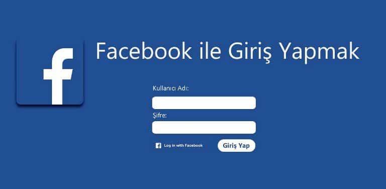 facebook ile giriş login