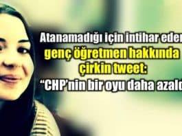 İntihar eden öğretmen Merve Çavdar için çirkin tweet!