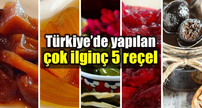 çok lezzetli ve ilginç reçel tarifleri: Patlıcan reçeli, ceviz reçeli, pancar reçeli, antep fıstığı reçeli, enginar reçeli...
