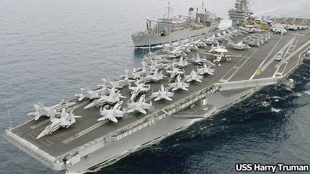 ABD donanmasının Harry Truman uçak gemisi ve beraberindeki yedi savaş gemisinden oluşan filoyu, Akdeniz'e sevk ettiği duyuruldu.