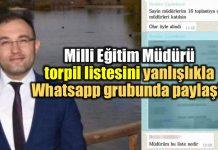 denizli acıpayam milli eğitim müdürü ibrahim tekdemir Whatsapp torpil listesi skandalı