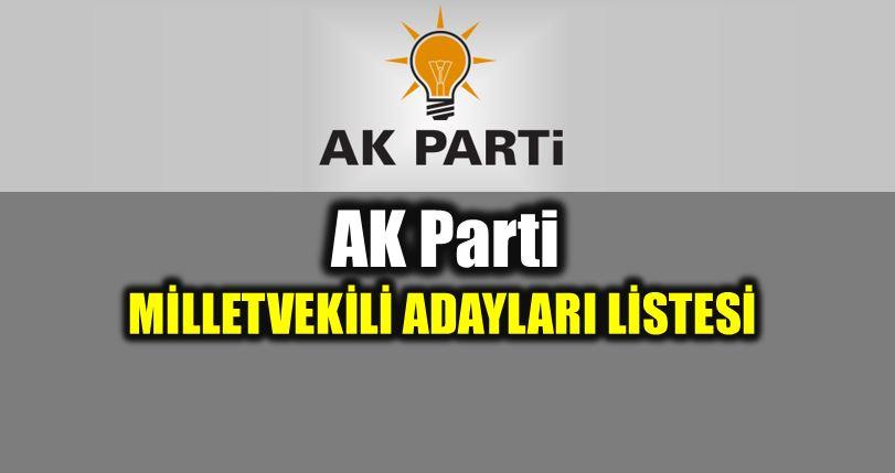 24 Haziran AK Parti milletvekili adayları tam liste