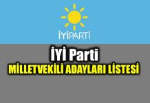 24 Haziran İyi Parti milletvekili adayları tam liste
