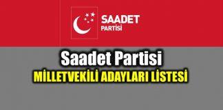 24 Haziran Saadet Partisi milletvekili adayları tam liste