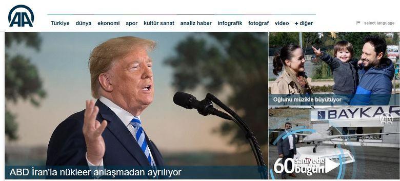 Anadolu Ajansı yer vermedi tamam