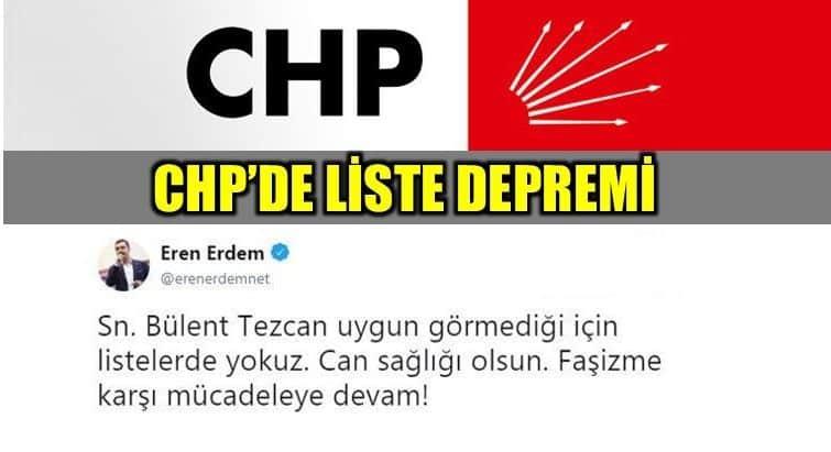 CHP milletvekili aday listesinde gösterilmeyen Eren Erdem ve Barış Yarkadaş'tan açıklama