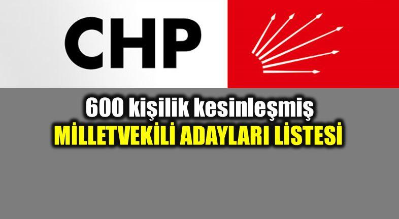 24 Haziran CHP milletvekili adayları 600 kişilik tam liste