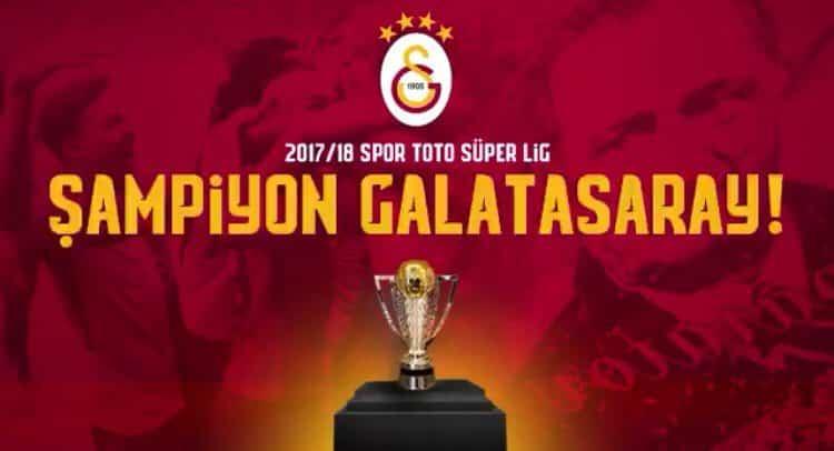 Galatasaray Süper Lig şampiyonu oldu!