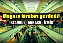istanbul Ankara ve İzmir mağaza kiraları düştü!
