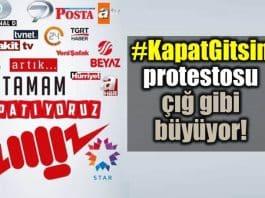 #KapatGitsin: Televizyon kanallarına Kapat Gitsin protestosu!