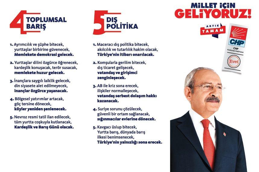 Muharrem ince kemal kılıçdaroğlu ve CHP nin 24 Haziran seçim sloganı broşürü