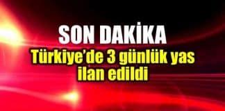Kudüs gerilimi: Türkiye 3 günlük yas ilan etti
