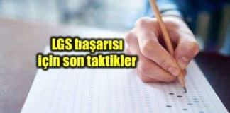LGS sınav başarısı önemli taktikler