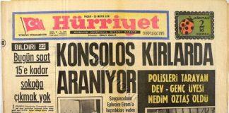 mahir çayan Efraim Elrom kaçırılması hürriyet gazete manşetleri