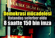 8 saatte 150 bin imza: Meral Akşener 100 bini geçti!
