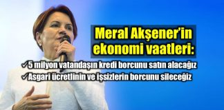 Meral Akşener İyi Parti ekonomi vaatleri asgari ücret kredi borcu işsiz