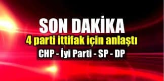 Muhalefet ittifak konusunda anlaştı: CHP, İyi Parti, SP, DP saadet partisi demokrat parti