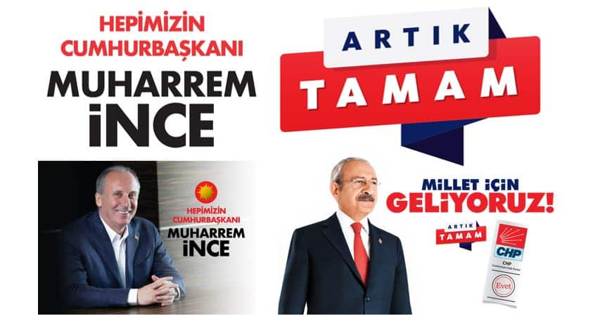 Muharrem ince ve CHP nin 24 Haziran seçim sloganı belli oldu