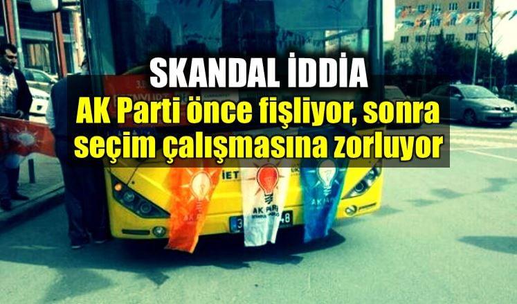 Skandal iddia: AK Parti fişleme ve zorla seçim çalışması igdaş