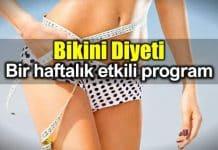 Bikini Diyeti nasıl yapılır? Bir haftalık beslenme programı